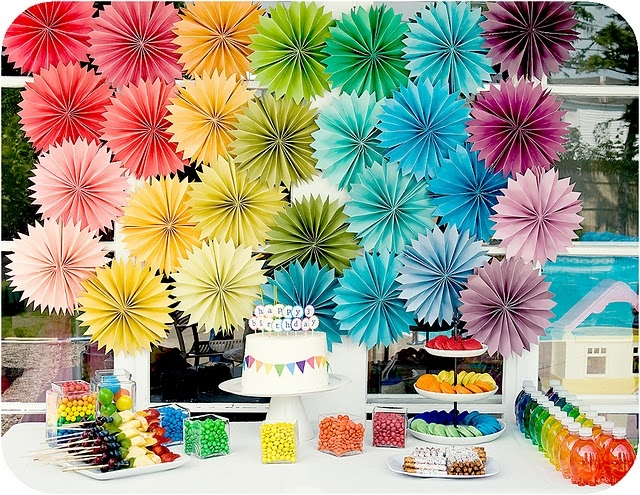 Paper Rosette Party Decorations