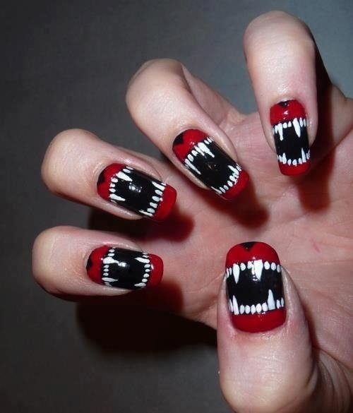 Teenage Nail Art: Wolf Teen Nail Art Pictures, Photos, And Images For