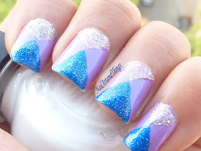 Triangle Glitter Nail Designs Pictures Photos And Images For