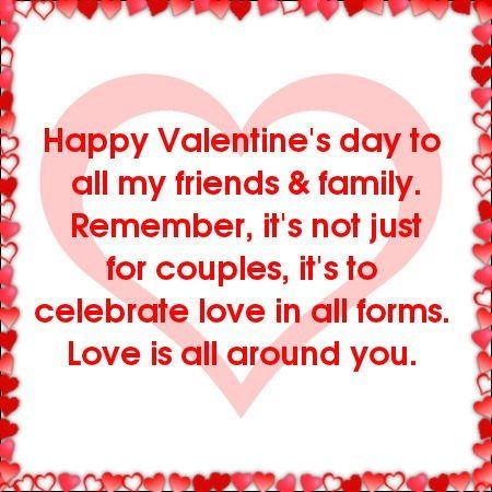 Happy Valentineu0027s Day To All My Friends And Family