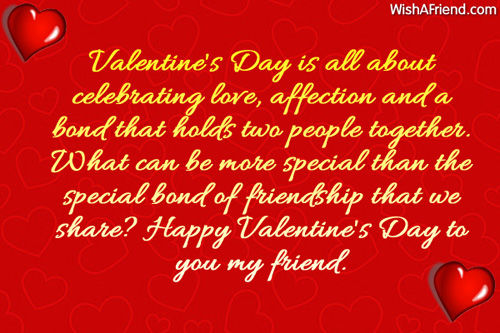 Happy Valentine's Day To You My Friend Pictures, Photos