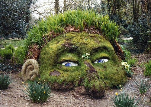 Creative garden art pictures photos and images for for Cool back garden designs
