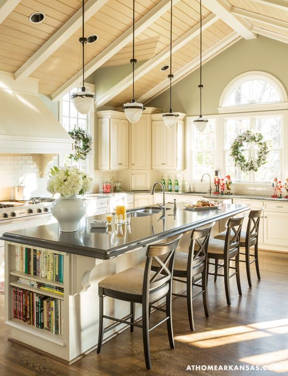 Gorgeous Kitchen With Vaulted Ceilings Pictures Photos