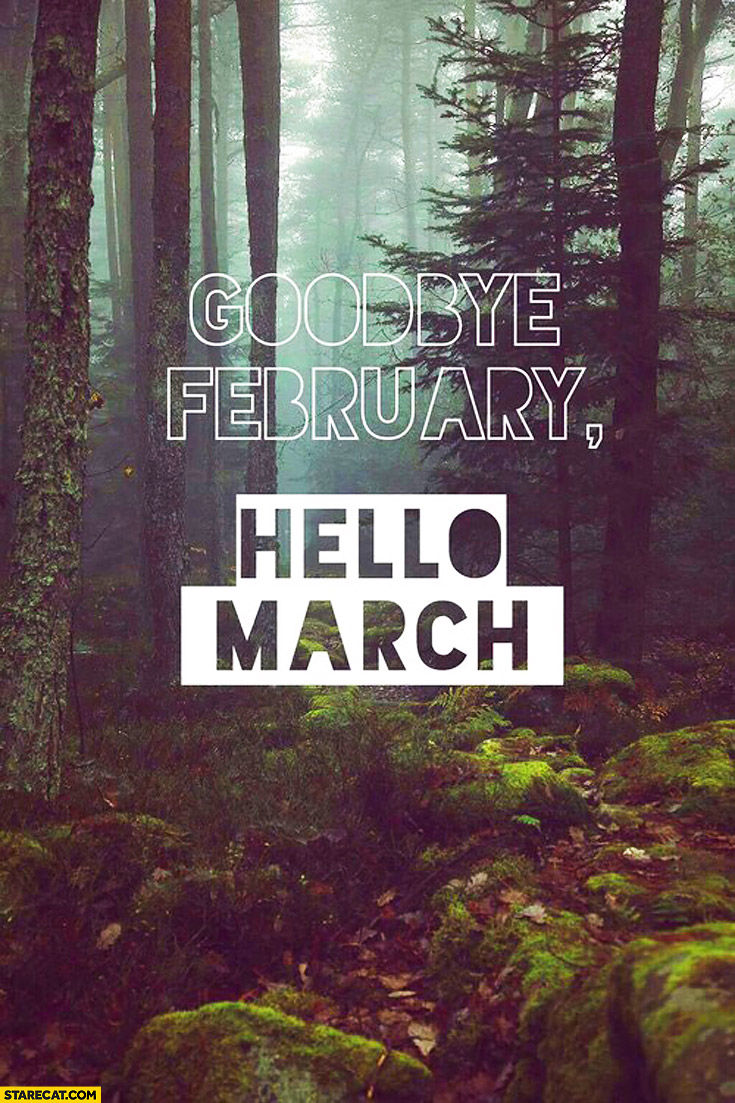 Goodbye February Hello March Pictures Photos And Images