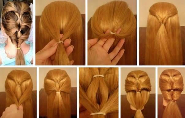 Делаем Прически Сами Себе На Средние Волосы