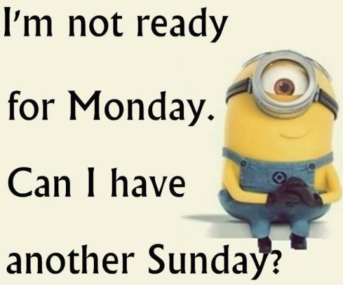 Im Not Ready For Monday. Can I Have Another Sunday