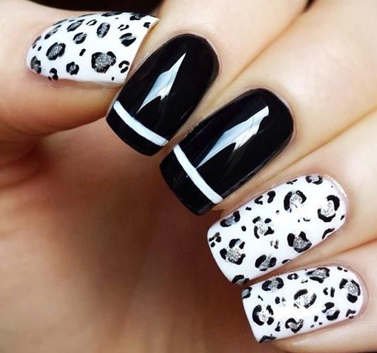 Diy Snow Leopard Nail Art: Black And White Leopard Nails Pictures, Photos, And Images