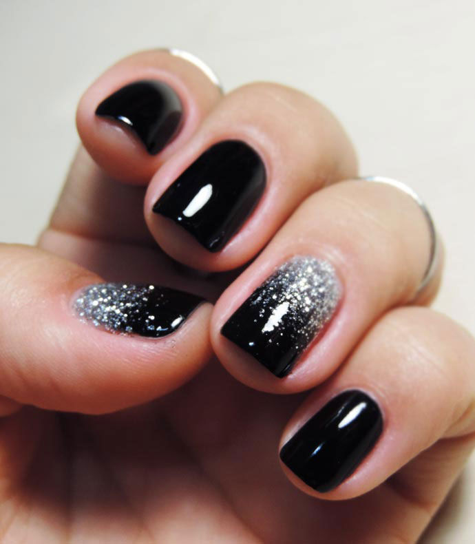 Black Glitter Ombre Nails Pictures, Photos, and Images for Facebook ...