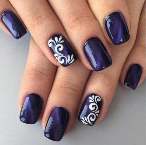 Violet Nails With Design Pictures Photos And Images For Facebook