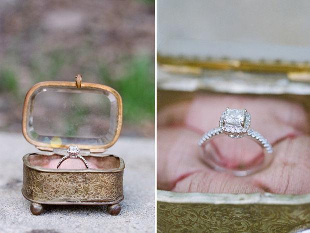 Vintage Treasure Wedding Rings Box