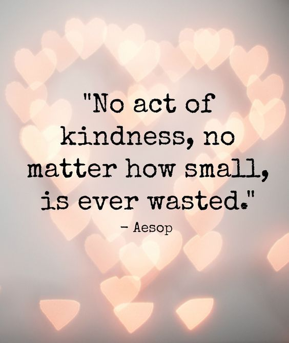 Image result for no act of kindness no matter how small is ever wasted