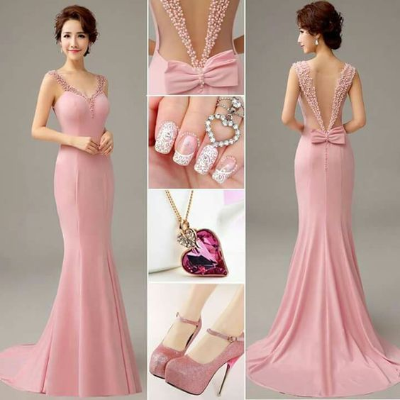Juveniles Mangago: Gorgeous Rose Colored Gown With Accessories Pictures