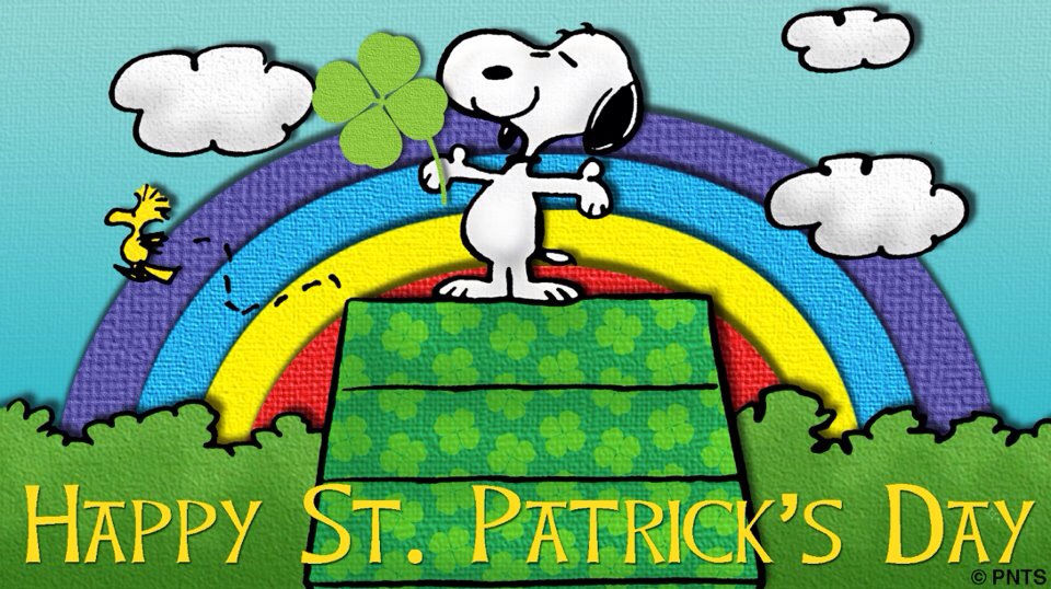 Image result for snoopy st patricks day images