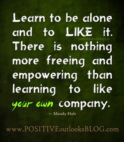 Learn to be alone quotes