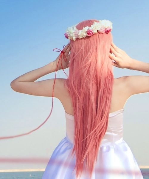Strawberry Pink Colored Hair Pictures Photos And Images