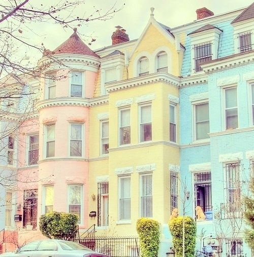 10 Best Beautiful Homes Images On Pinterest: Pastel Row Houses Pictures, Photos, And Images For