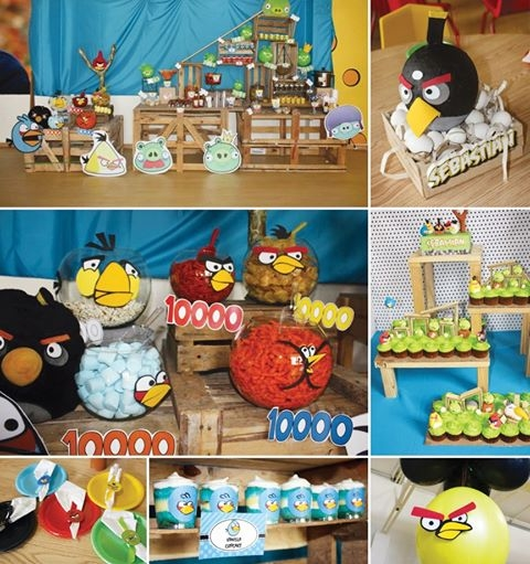 Boy birthday party ideas on pinterest water blob angry for Angry birds party decoration ideas