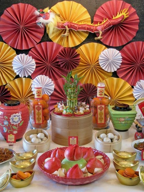 Chinese new year theme pictures photos and images for for Asian party decoration