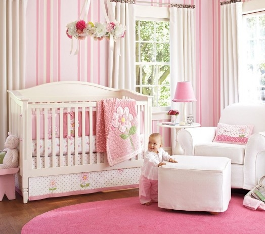 Cute Baby Girl Nursery Ideas: Pink Baby Girls Room Pictures, Photos, And Images For