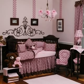 pink pattern and polka dots baby girls room pictures photos and