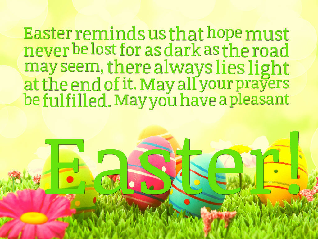easter reminds us that hope must never be lost for as dark