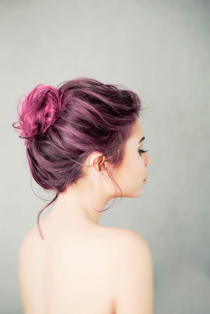 Dyed Hair Bun Pictures Photos And Images For Facebook