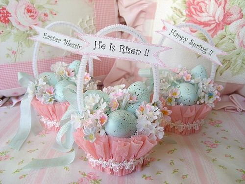 Cute Shabby Chic Easter Baskets