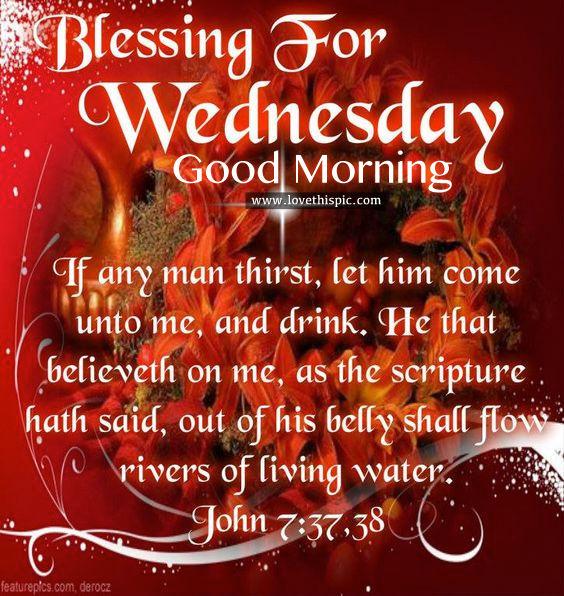 Good Morning Wednesday Blessings Gif