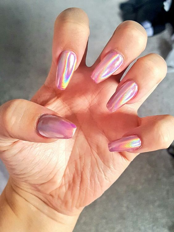 Pink Holographic Nails Pictures Photos And Images For Facebook Tumblr Pinterest And Twitter