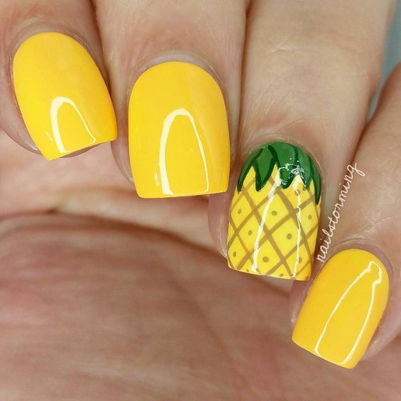 Pineapple nail art - Pineapple Nail Art Pictures, Photos, And Images For Facebook