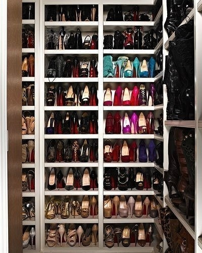 Closet full of heels