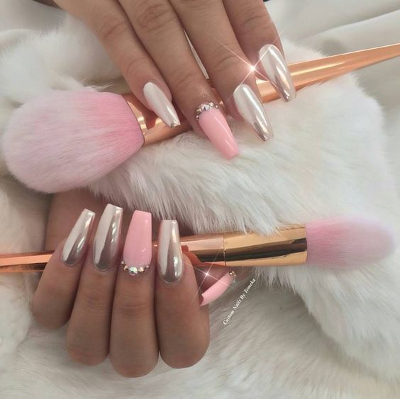 Chrome Pink Nails Pictures, Photos, and Images for ...