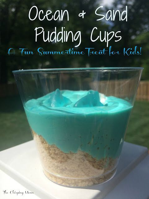 Ocean And Sand Pudding Cups Pictures Photos And Images