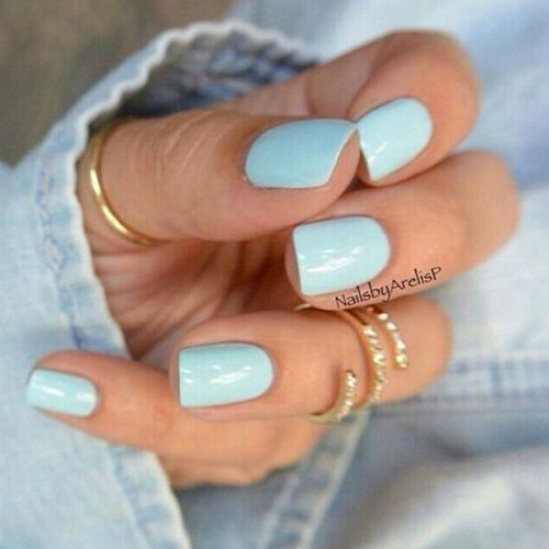 Sky Blue Summer Nails Pictures Photos And Images For