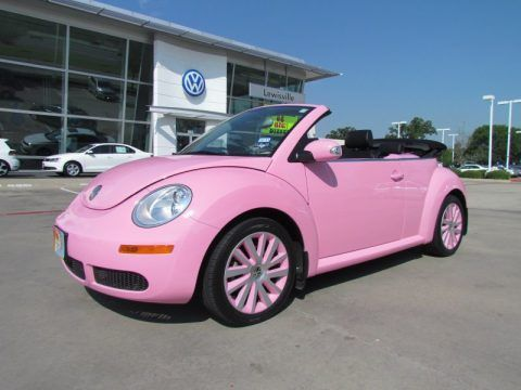 Pink Volkswagen Beetle Convertible Pictures Photos And Images For