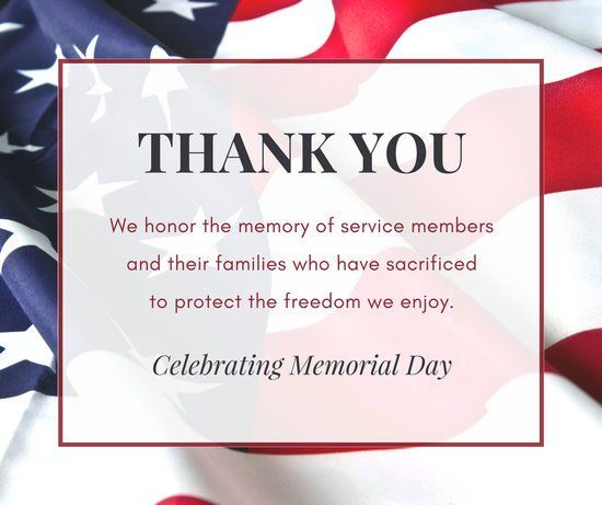 Memorial Day Thank You Quotes: Thank You...Celebrating Memorial Day Pictures, Photos, And