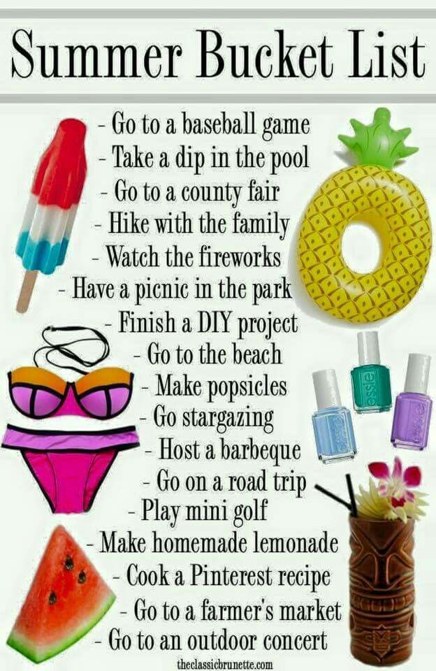 Summer Bucket List Pictures, Photos, and Images for ...