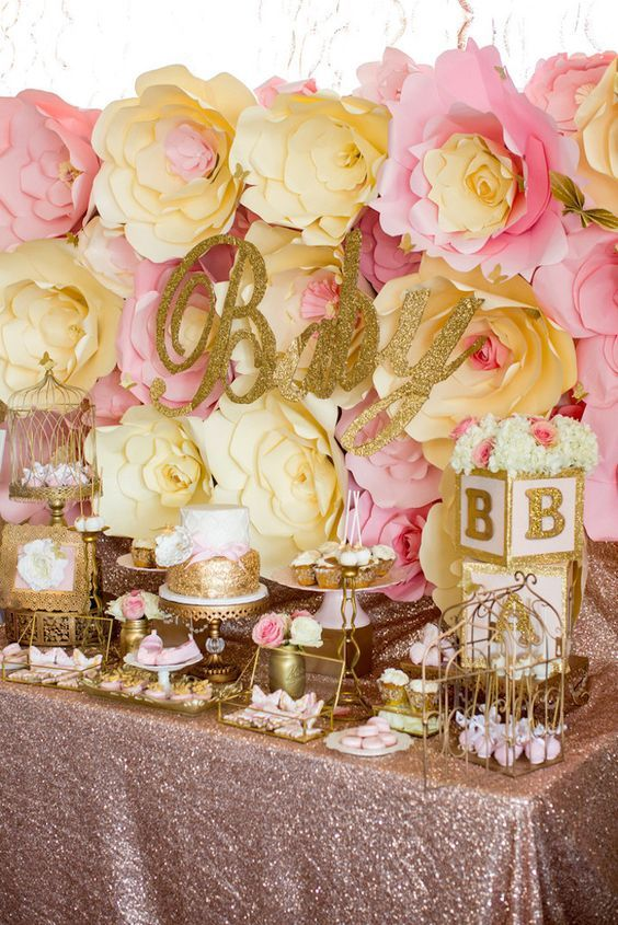 Pink Amp Gold Butterfly Baby Shower Pictures Photos And