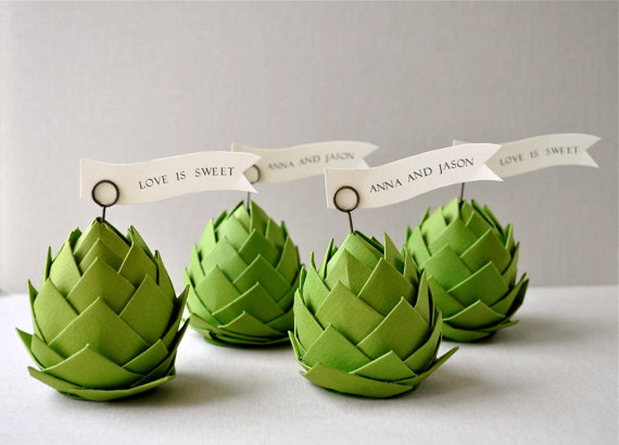 Paper artichoke table decorations pictures photos and for Artichoke decoration