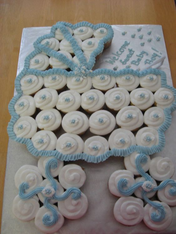 Baby Shower Baby Carriage Cupcake Cake Pictures Photos