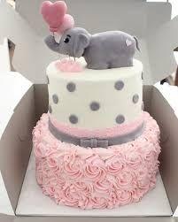 Elegant Adorably Baby Shower Elephant Cake