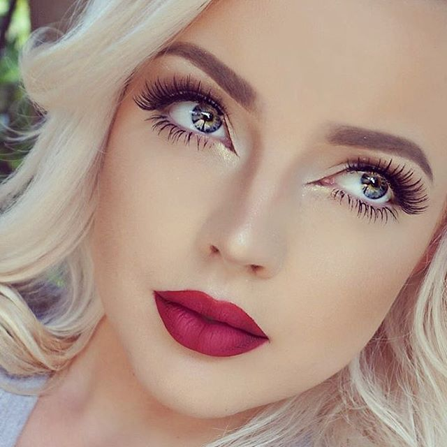 Fresh Makeup Look With Red Lip Pictures, Photos, And
