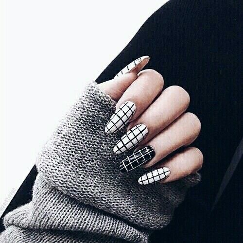 Black And White Checkered Nails Pictures, Photos, and ...