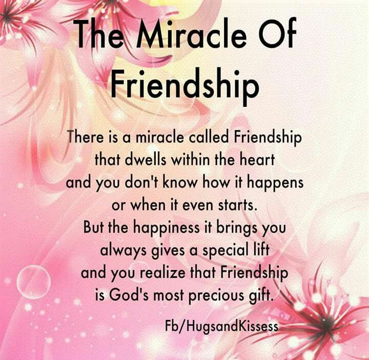 Special Friend Quote: The Miracle Of Friendship Pictures, Photos, And Images For