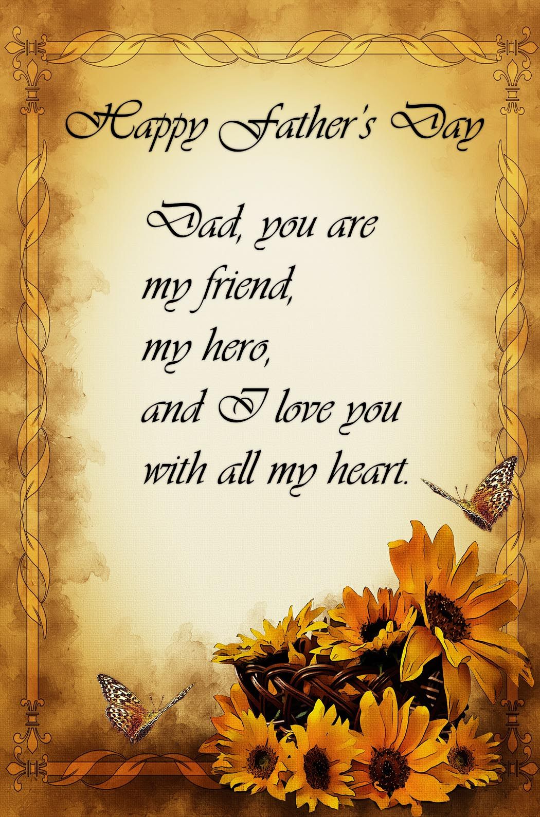 Cute I Love You Quotes For My Boyfriend Dad, You Are My Friend...