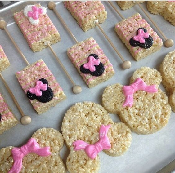 Minnie Mouse Themed Baby Shower Treats