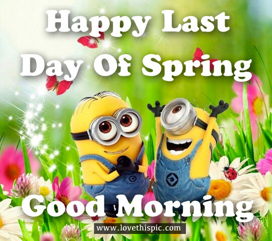 Happy Last Day Of Spring, Good Morning Pictures, Photos