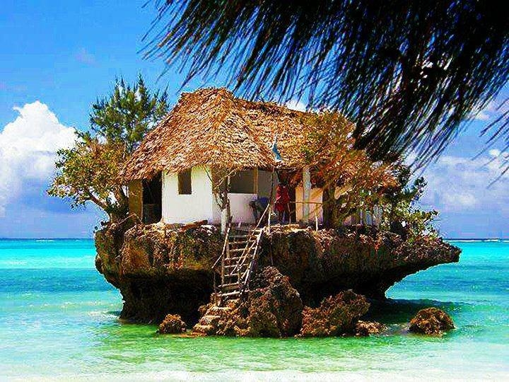 House on a rock in the Ocean