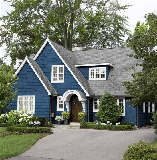 House siding colors simulator for Blue house builders