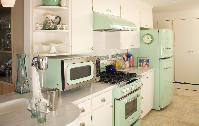 Retro Pastel Mint Green Kitchen Pictures Photos And
